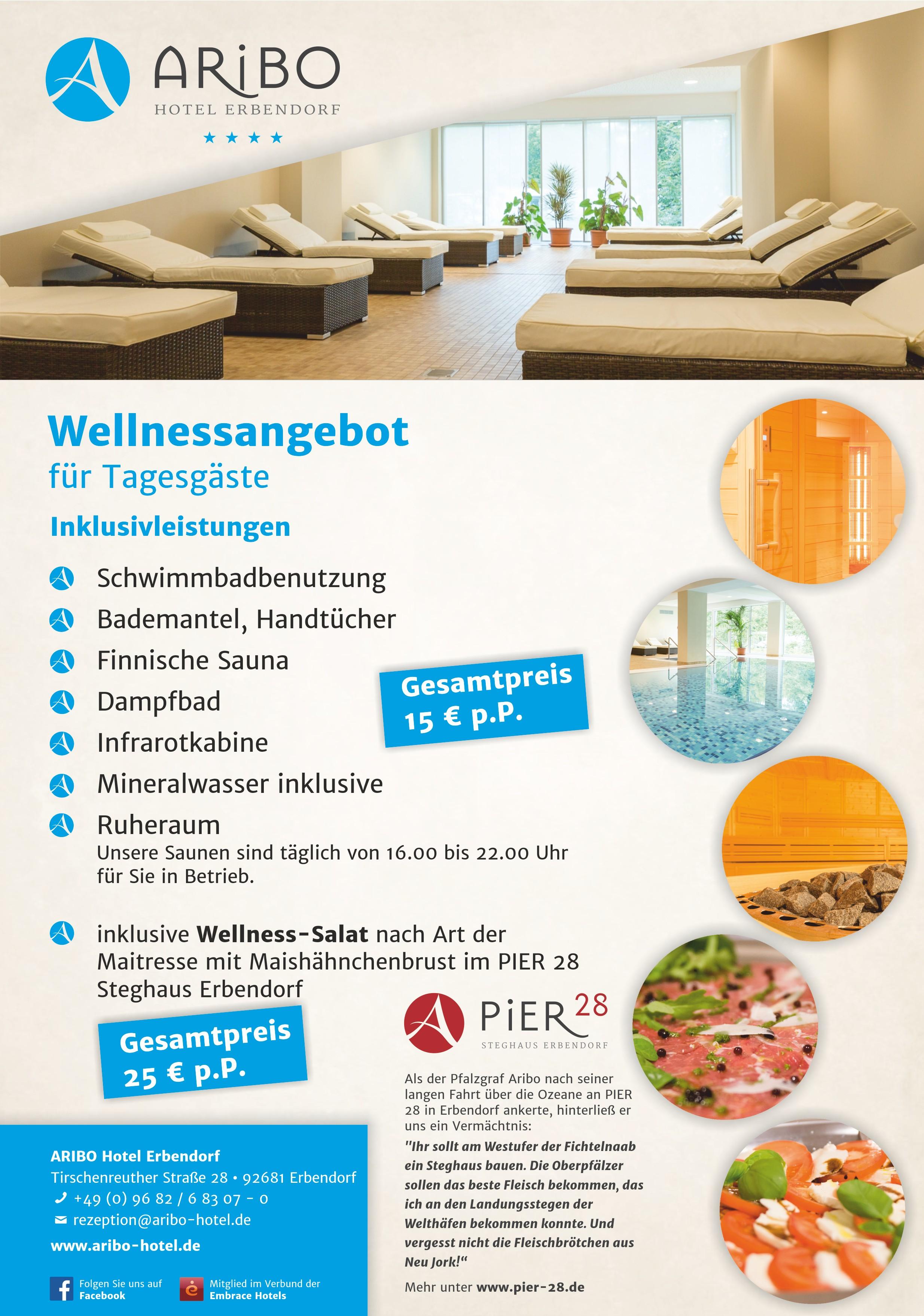 Wellness für Tagesgäste - ARIBO Hotel Erbendorf - Urlaub und